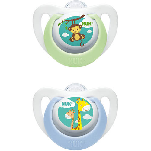NUK Advanced Newborn Orthodontic Pacifiers, Set of 4, Size 0, Boy