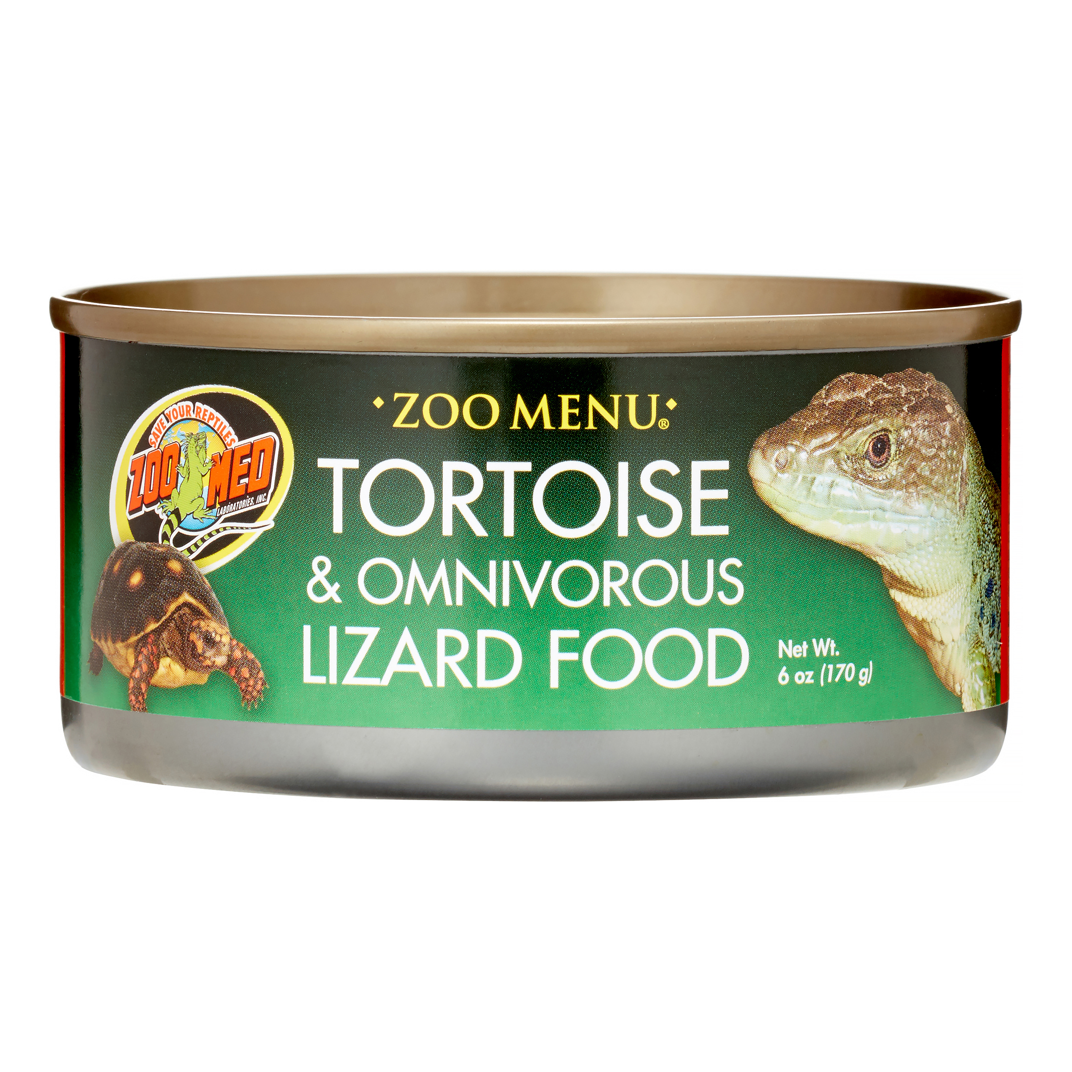 Zoo Med Zoo Menu Tortoise & Omnivorous Lizard Food, 6 oz