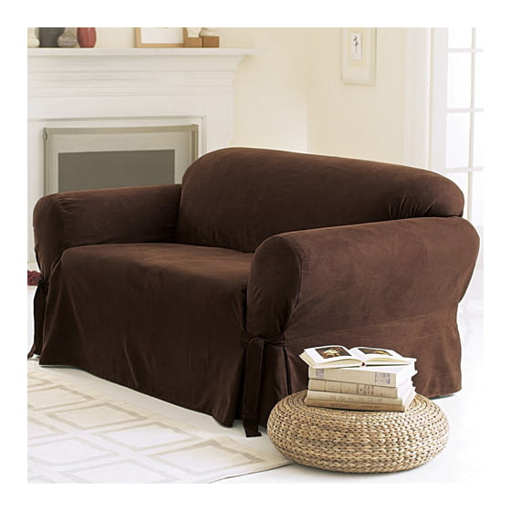 Sure fit soft suede sofa cover - Forro para sofa ...