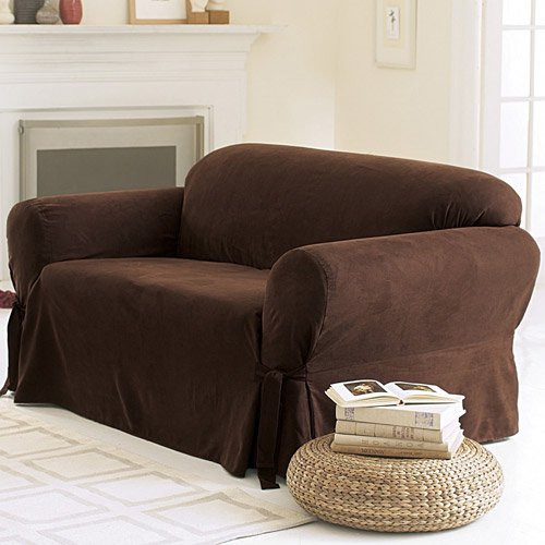Sure fit soft suede sofa cover walmartcom for Sure fit sectional sofa covers