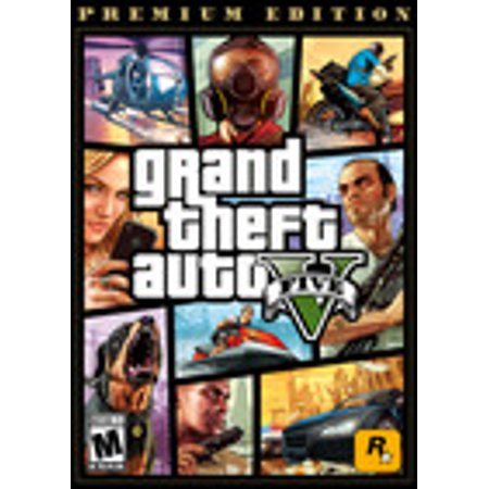 GRAND THEFT AUTO V: PREMIUM ONLINE EDITION, Rockstar Games, PC, [Digital Download], 685650114378