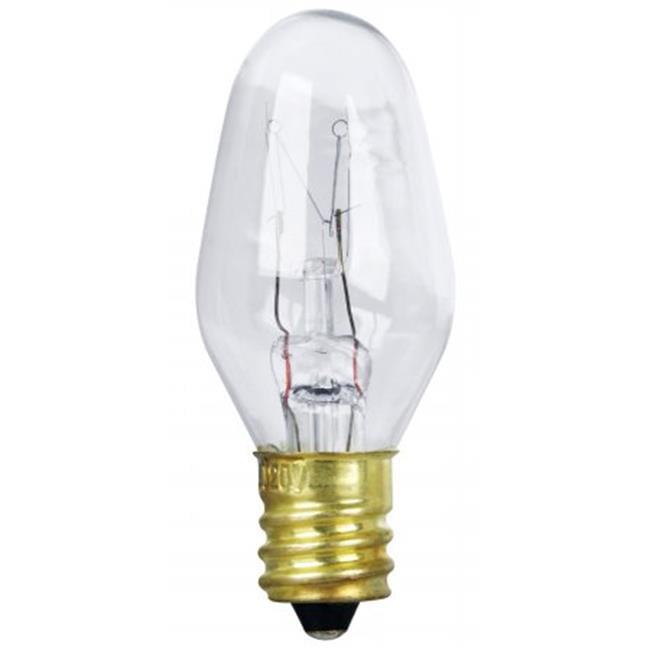 2 Count 7 Watt Clear Long Life Night Light Bulbs - image 1 of 1