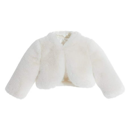 Ivory Faux Fur Capes Formal Flower Girl Bolero Cozy Fur - Fur Coat Halloween