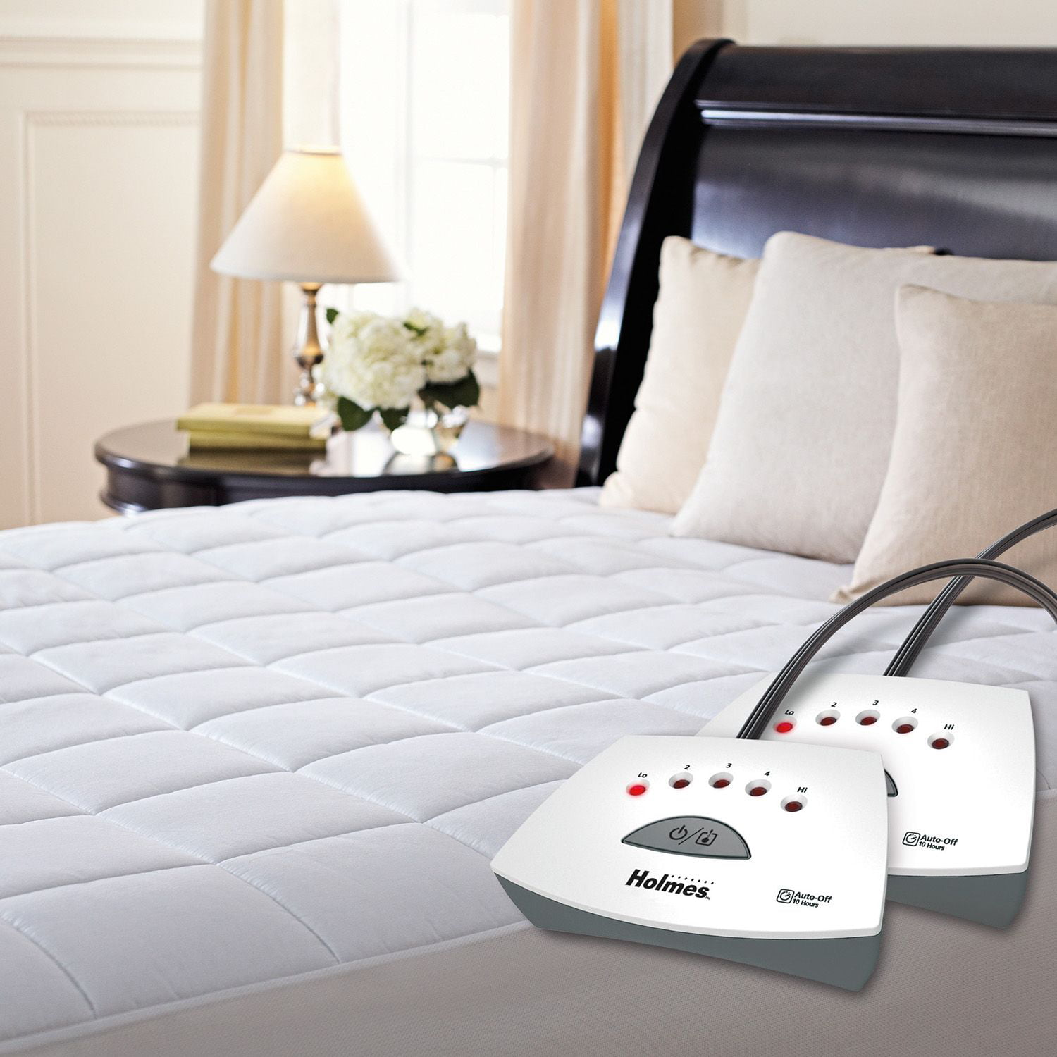 Holmes Quilted Heated Mattress Pad (Queen) by Holmes