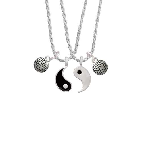 "Golf Ball Yin Yang Necklace Set, 20""+3"" by Delight and Co."