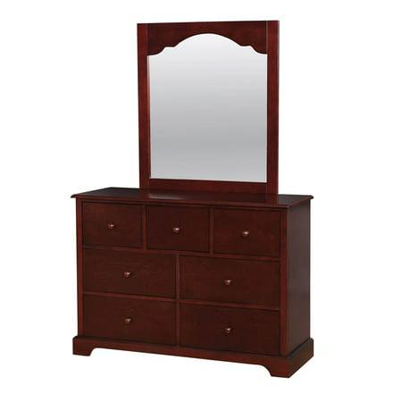 Furniture of America Talia Transitional Dresser and Mirror in Cherry American Drew Cherry Dresser