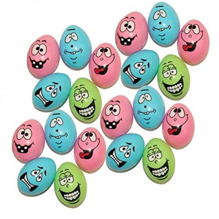 Dazzling Toys Crazy Easter Eggs With Funny Faces, Perfect For A Super Egg Hunt (48 Pieces per Pack) for $<!---->