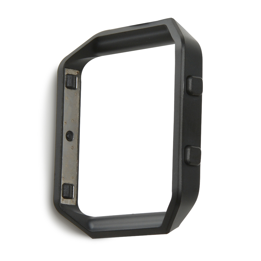 Replacement Accessory Fitbit Blaze Frame Stainless Steel Metal Watch Shell Black by