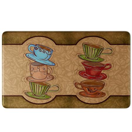 Art3d Coffee Cup Party Comfort Memory Foam Kitchen Mat Anti ...