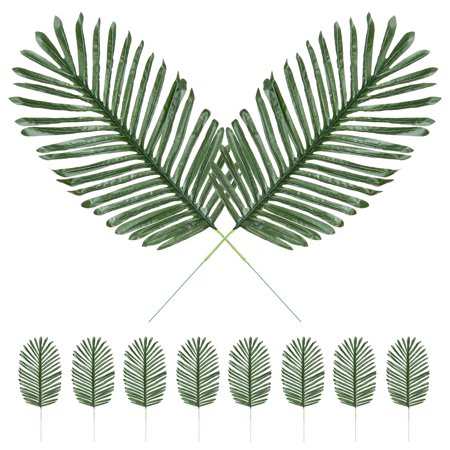 Best Choice Products Set of 10 23in Artificial Tropical Palm Tree Plant Leaves Decor for Home, Party, Wedding - Green - Artificial Palm Fronds