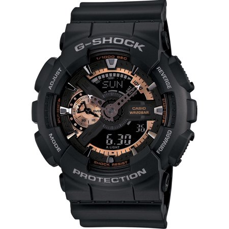 Casio G-Shock Mens Resin Case and Strap Black Watch - GA110RG-1