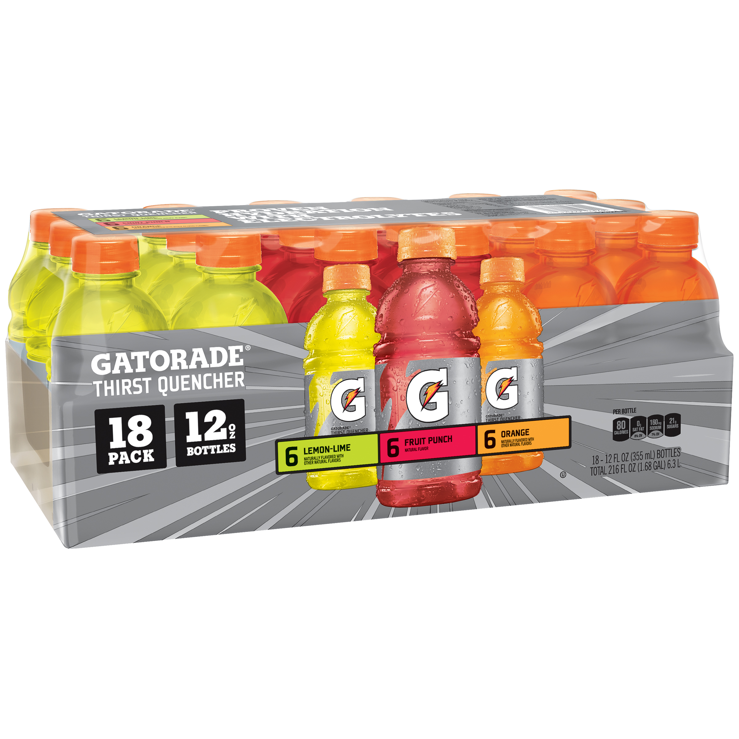 Gatorade Thirst Quencher Variety Pack, 18 Count, 12 fl. oz. Bottles