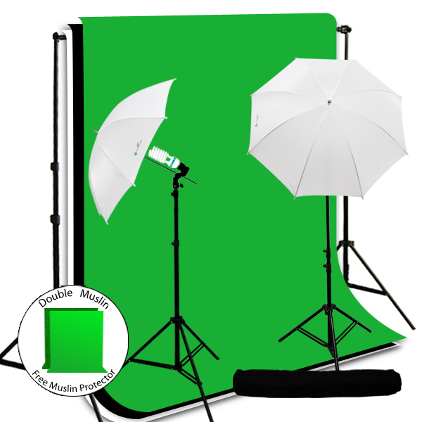 Loadstone Studio Video Chromakey Green Screen Lights Studio Photography Video Chromakey Green Screen Lighting Kit, WMLS2923