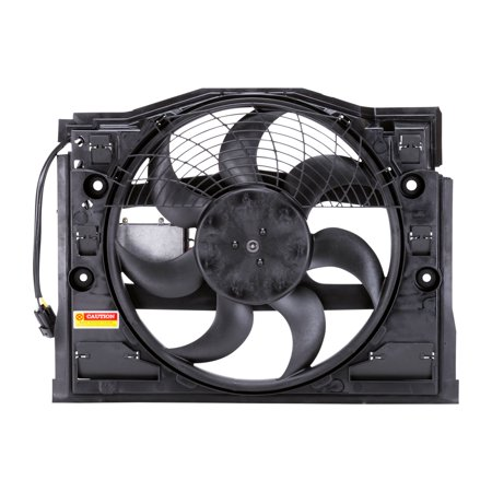 TYC 611190 for BMW 3 Series Replacement Condenser Cooling Fan Assembly ( (Series Ac Condenser)