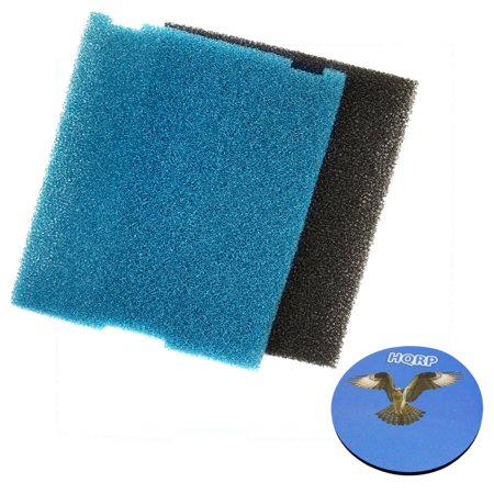 Pond Filter Replacement - HQRP Flat Box Filter Pad for Tetra part 19015 Submersible Pond Filter Replacement + HQRP Coaster