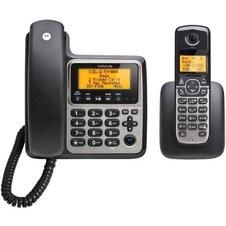 Motorola M802C DECT 6.0 Corded Base Phone with 1 Cordless ...
