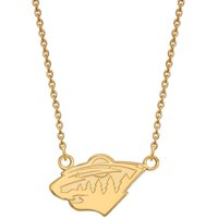 NHL Minnesota Wild 10kt Yellow Gold Small Pendant with Necklace