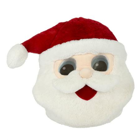 Maskimals Oversized Plush Xmas Mask - Santa Claus - Santa Muerte Halloween Mask