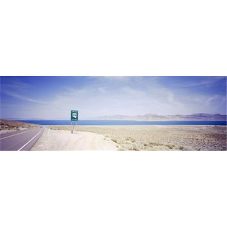 Road sign at the roadside  Nevada State Route 446  Pyramid Lake  Nevada  USA Poster Print by  - 36 x 12 - image 1 de 1