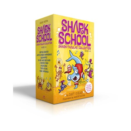Shark School Shark-tacular Collection Books 1-8 : Deep-Sea Disaster; Lights! Camera! Hammerhead!; Squid-napped!; The Boy Who Cried Shark; A Fin-tastic Finish; Splash Dance; Tooth or Dare; Fishin': Impossible - Who Has The Cheapest School Supplies