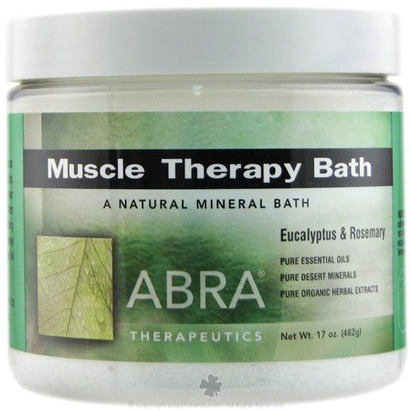 Abra Therapeutics - Muscle Therapy Bath Eucalyptus & Rosemary - 17 oz.(pack of 4)