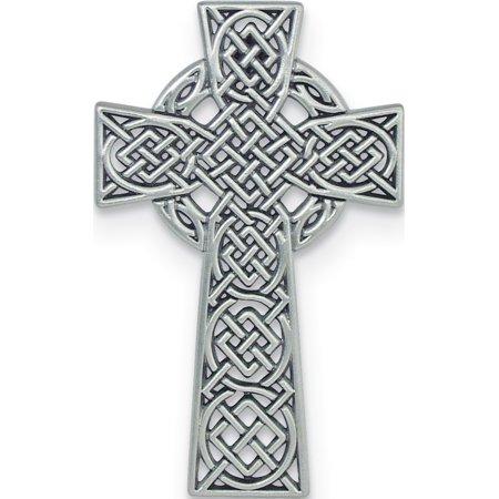 Silver-tone Celtic Cross Wall Plaque (5x3mm)