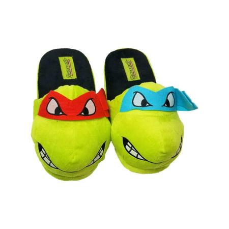 best prices cheapest price free shipping TMNT - Mens Green TMNT Teenage Mutant Ninja Turtle Leo Slippers ...