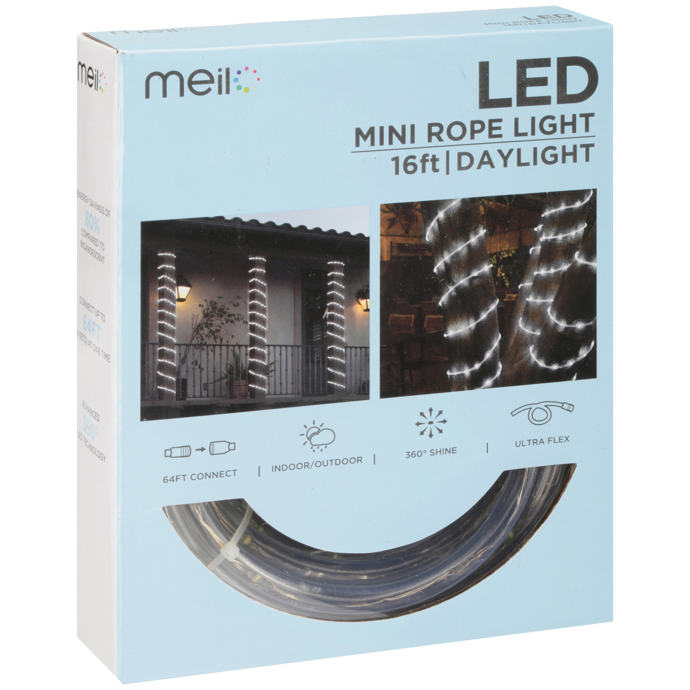 Meil led mini rope light 16 ft daylight walmart aloadofball Images