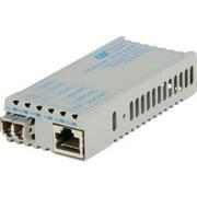 10/100BT TO 100X LC SINGLE MODE 30KM MICONVERTER POE/PD & US AC PWR