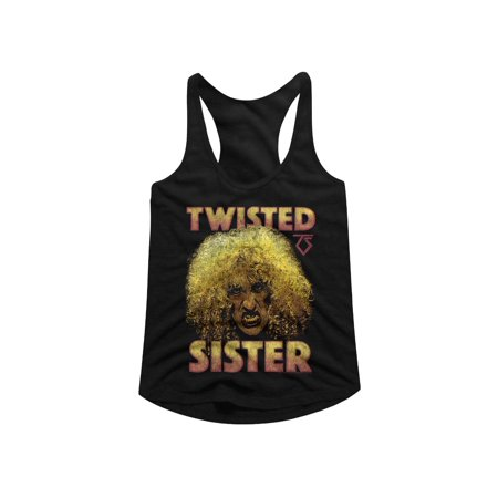 twisted sister heavy metal band big curly hair dee snider ladies tank top tee. Black Bedroom Furniture Sets. Home Design Ideas
