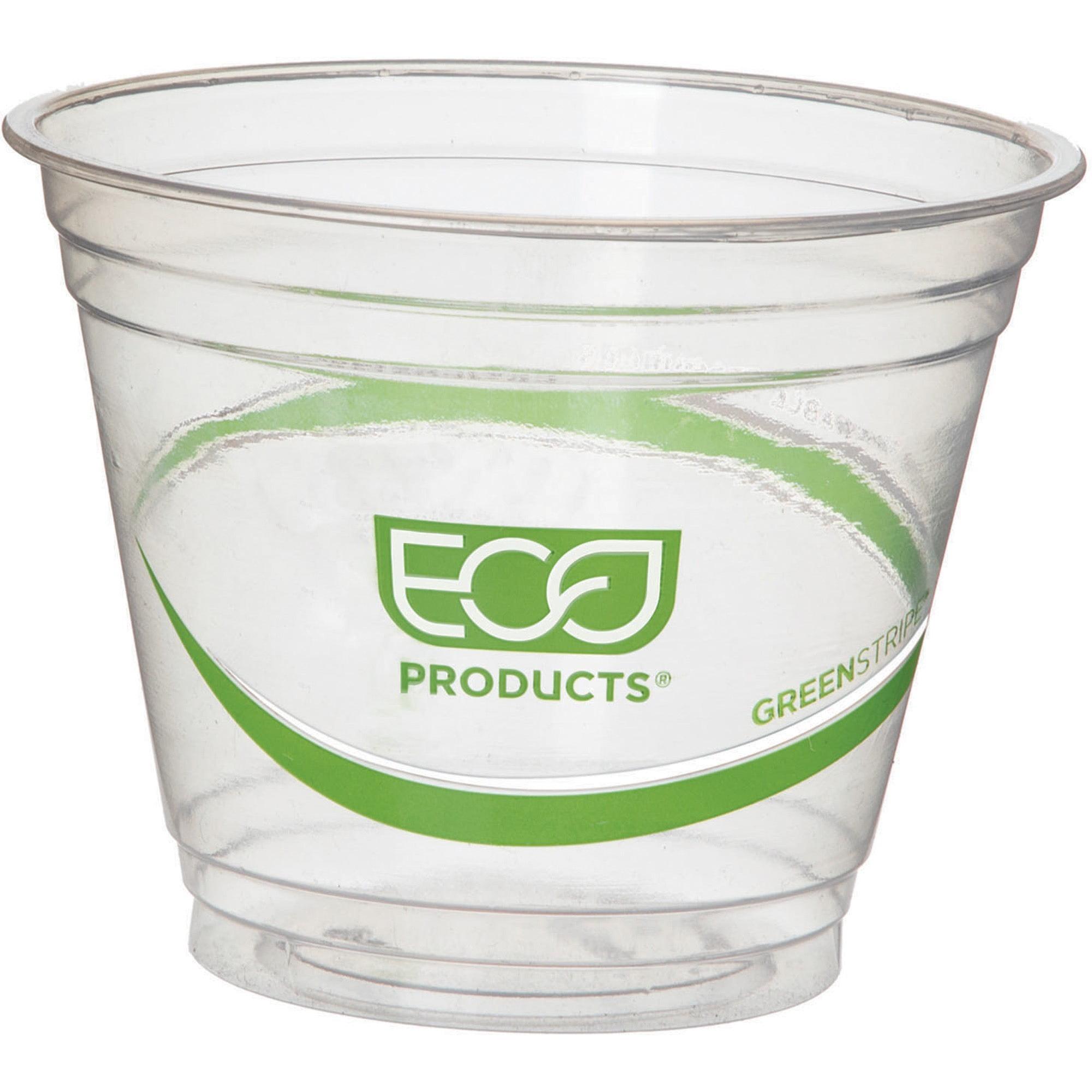 Eco-Products, ECOEPCC9SGS, GreenStripe Cold Cups, 1000 / Carton, Clear, 9 fl oz