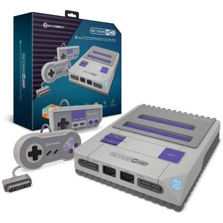 Hyperkin RetroN 2 HD Retro Gaming Console for Nintendo NES / SNES / Super Famicom - Gray (Classic Nintendo Console)
