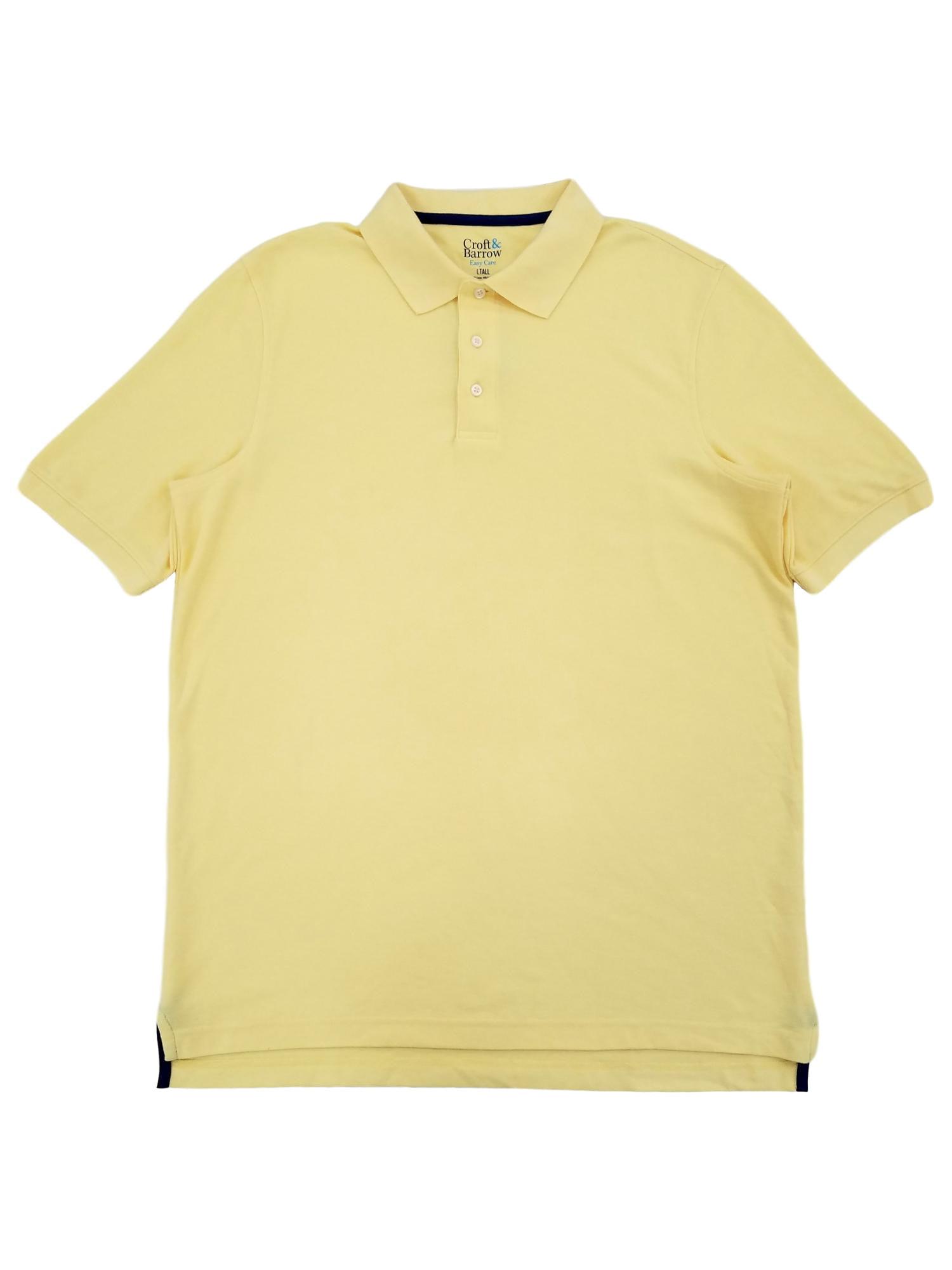 Croft & Barrow - Croft & Barrow Mens Big & Tall Yellow Performance Pique Polo T-Shirt - Walmart.com
