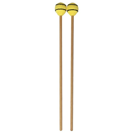 Marimba Instruments - Marimba Stick Mallets Xylophone Glockensplel Mallet with Beech Handle Percussion Instrument Accessories for Professionals Amateurs 1 Pair