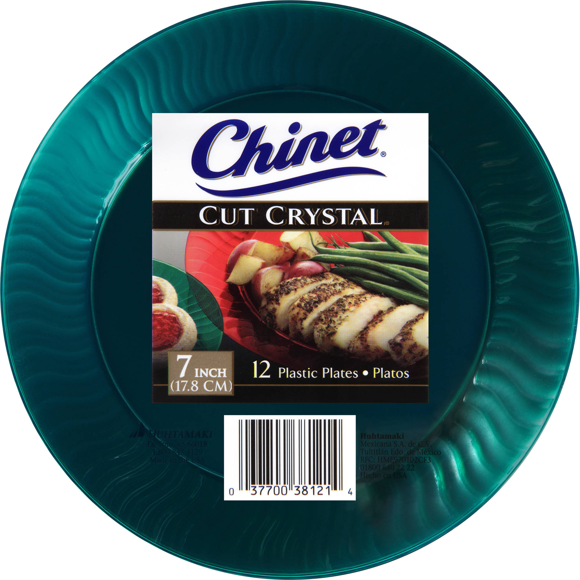 "Chinet Cut Crystal 7"" Plastic Plates, 12 count"