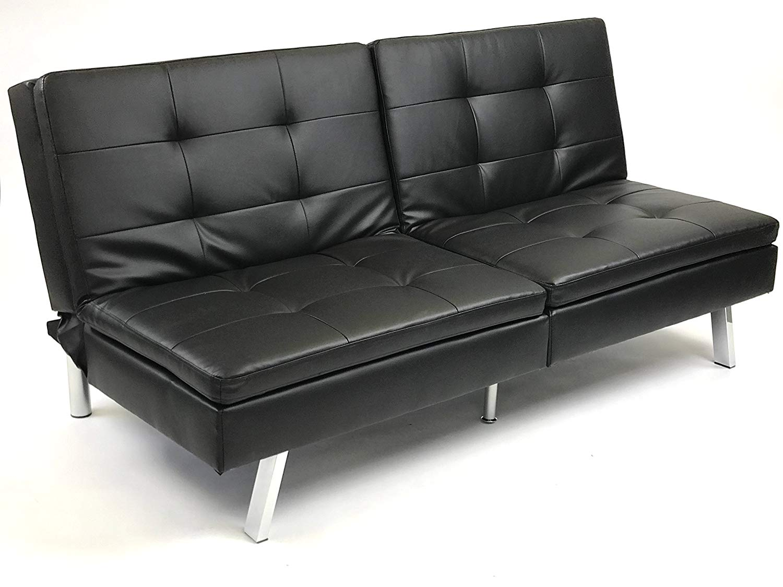 Viscologic Megan Leatherette Futon Sofa