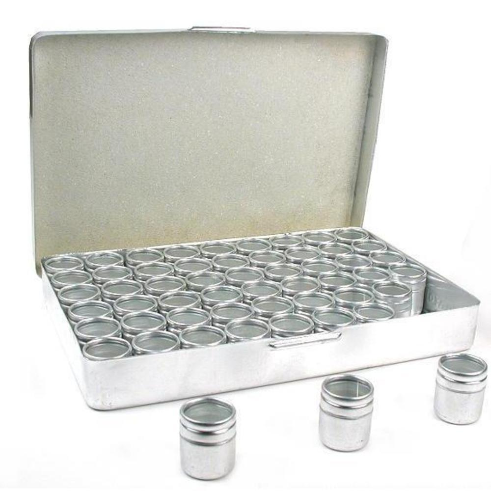 54 Seed Bead Jars Beading Storage Organizer Case