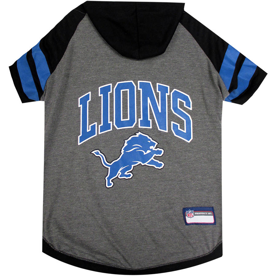 Pets First NFL Detroit Lions Pet Hoodie Tee Shirt