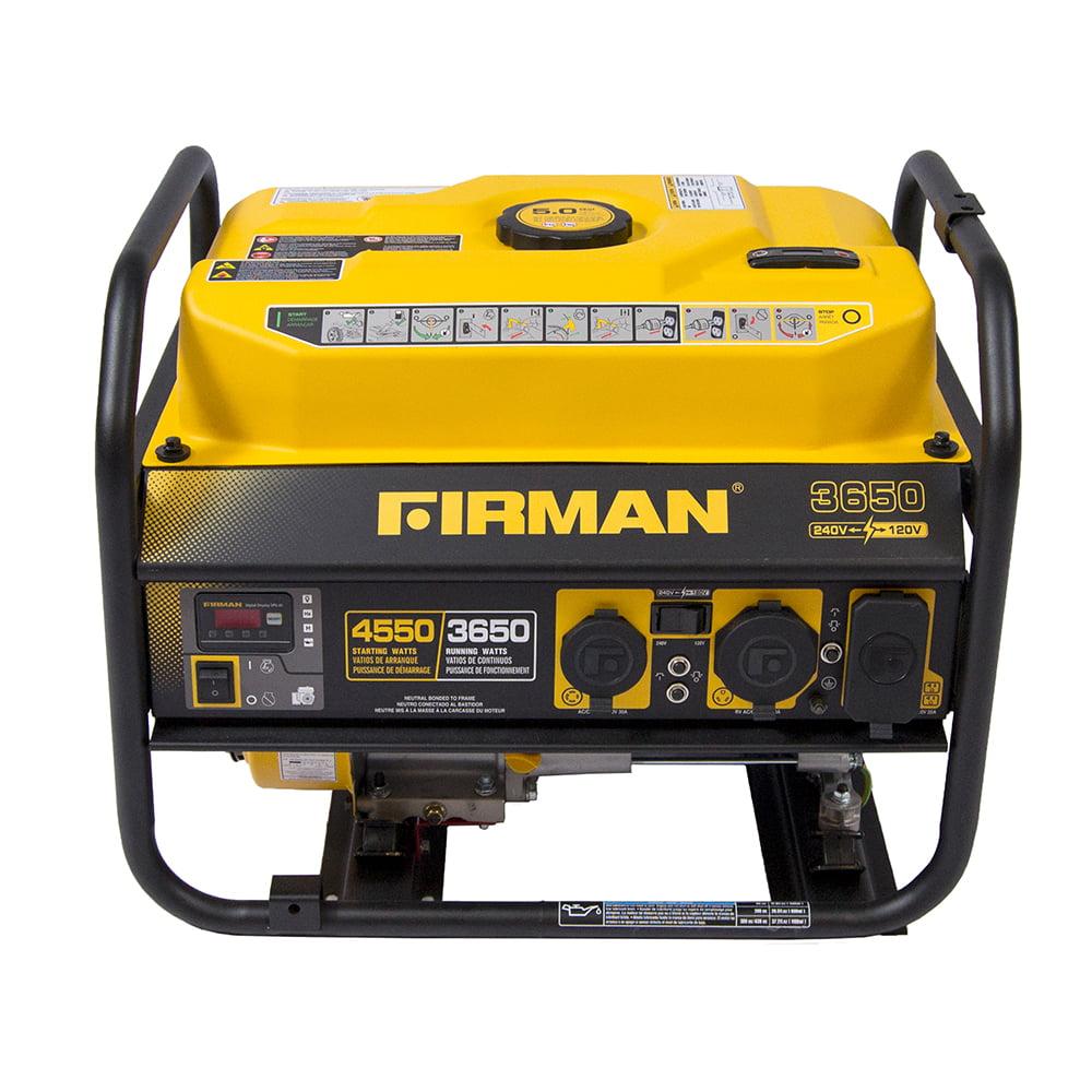 Firman P03606 4450/3650 Watt 120/240 V Gas Recoil Start Generator, EPA Only