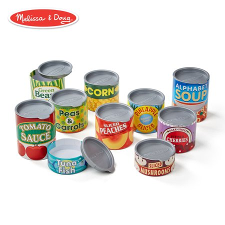 Melissa & Doug Let?s Play House! Grocery Cans (Pretend Play, Pop-Off Lids, Sturdy Cardboard Construction, 10 Cans)