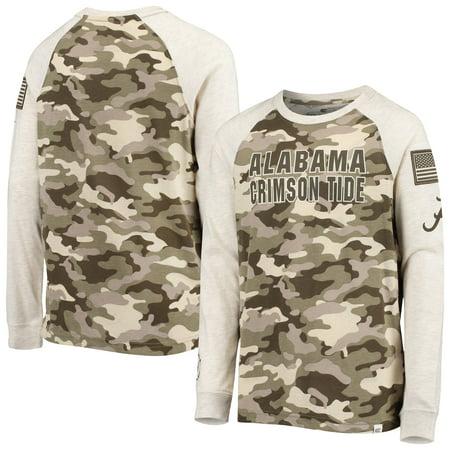 Alabama Crimson Tide Colosseum Youth OHT Military Appreciation Desert Camo Raglan Long Sleeve T-Shirt - Oatmeal thumbnail