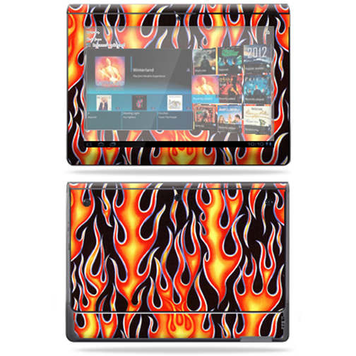 Mightyskins Protective Vinyl Skin Decal Cover for Sony Tablet S wrap sticker skins Blue Fire
