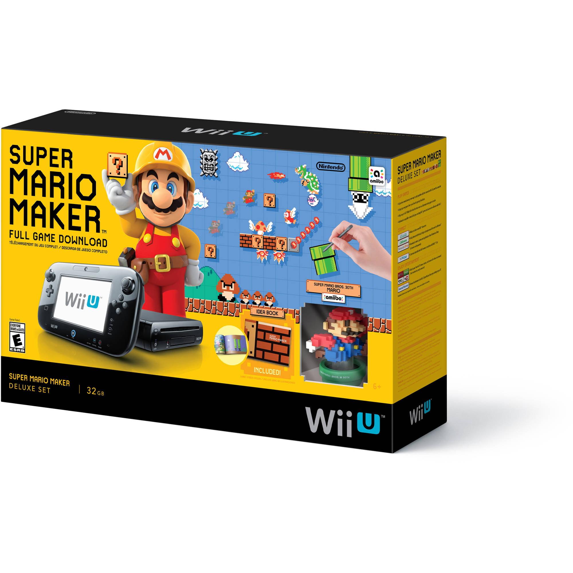 Nintendo Wii U Super Mario Maker Console Deluxe Set - Walmart Exclusive