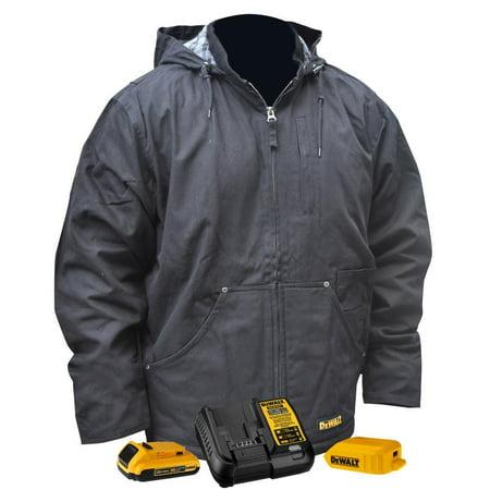 Dewalt-DCHJ076ABD1-2X Heavy Duty Heated Black Work Jacket Kit - 2X