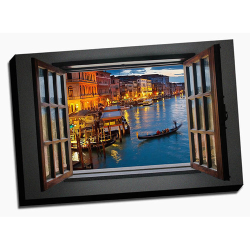 Picture it on Canvas 'Glimpse into Italy' Photographic Print on Wrapped Canvas
