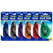 Bazic Glue Tape Permanent 8mmx8m Astd