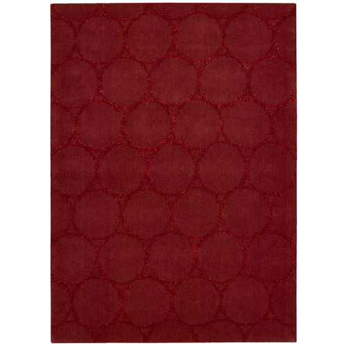 Joseph Abboud Rug Collection Monterey Hand-Woven Red Area Rug