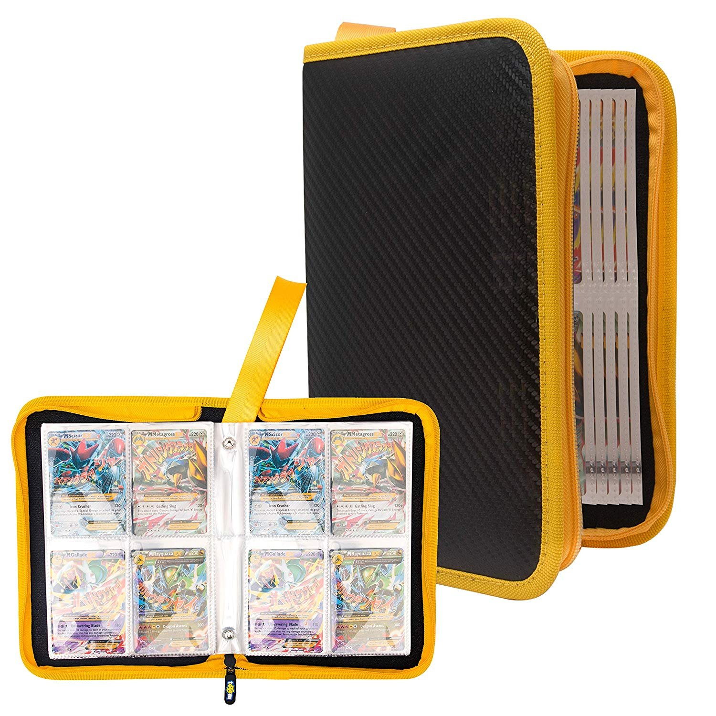 Totem World Zipper Binder Black Yellow With 25 4-Pocket