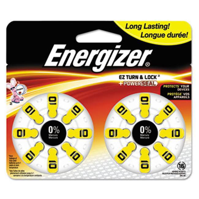 Eveready Battery AZ10DP16 1.4 V Size 10 Zero Mercury Coin Cell Hearing Aid Battery by Eveready