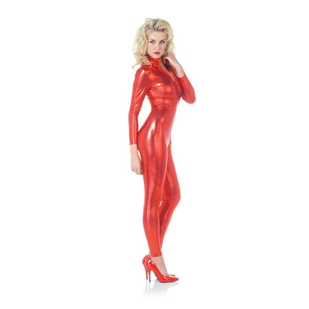 Full Body Panda Costume (Sexy Metallic Stretch Full Body Catsuit Costume Red)